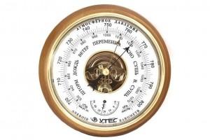 """Барометр с термометром БТК-СН 8 """"шлифованное золото"""""""